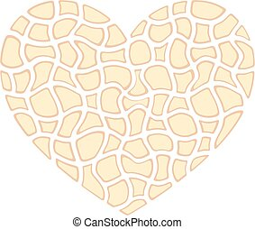 Abstract heart - Vector illustration of abstract heart with...