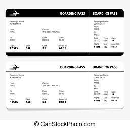ticket boarding pass isolated on white background vector...
