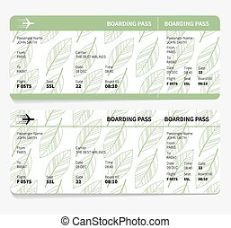 ticket boarding pass isolated on white background. vector...