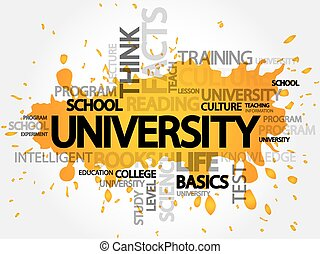 UNIVERSITY word cloud, education concept