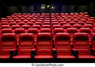 movie theater empty auditorium with seats - entertainment...