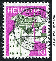 Graubunden - SWITZERLAND - CIRCA 1973: stamp printed by...