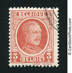 King Albert - BELGIUM - CIRCA 1922: stamp printed by...