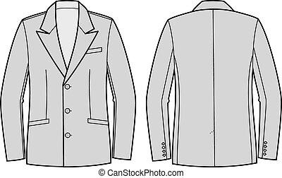 Business jacket for men - Vector illustration of business...
