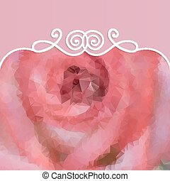 beautiful background with pink rose and pattern