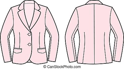Business jacket - Vector illustration of business jacket