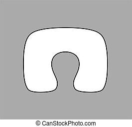 Pillow - Vector illustration of neck pillow on grey...