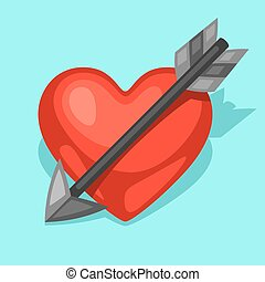 Background with heart and arrow Concept can be used for...
