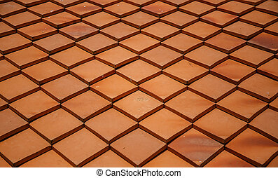Abstract red roof tile pattern background