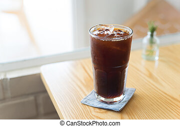 Iced Americano. - Iced Americano black coffee serve in cafe.