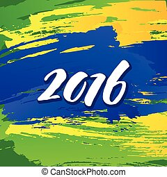 Background colors of the Brazilian flag with the inscription...