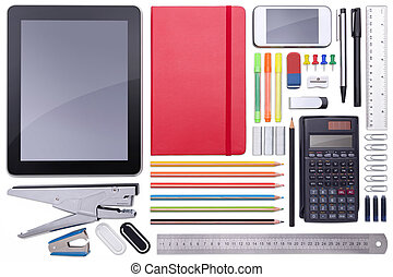 Collection of different office materials