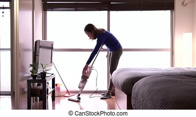Housewife Maid Asian Housemaid - Asian housemaid cleaning...