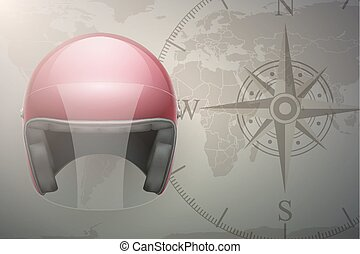 Motorcyclist traveler background - Background of...