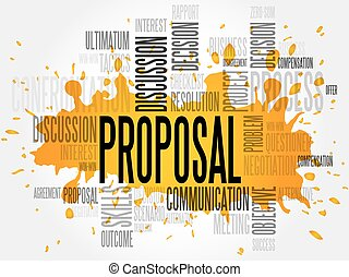 Proposal word cloud, business concept