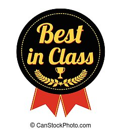 Best in class label or seal