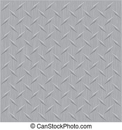 Diamond Plate Metal - A silver metallic diamond plate vector...
