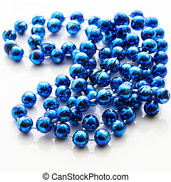 blue bead isolated on white with shaddow
