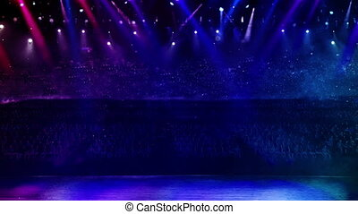 concert stage color light random - curtain opening at the...