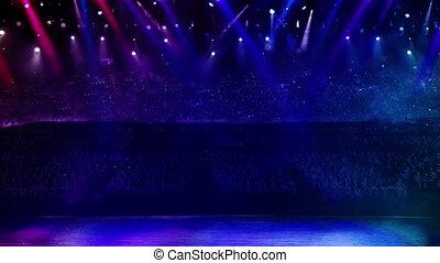 concert stage color light random