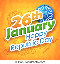 Republic Day of India background - illustration of abstract...