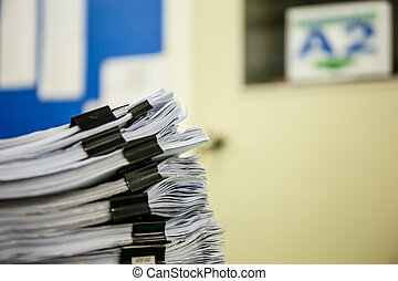 A pile of documents