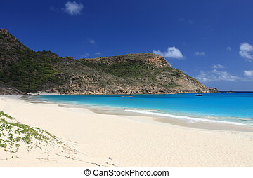 Beach on tropical paradise Saint Barts