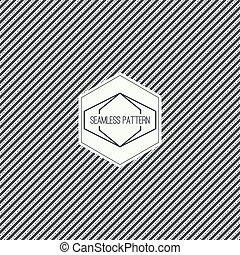 Vector seamless pattern with hipster vintage old banner...