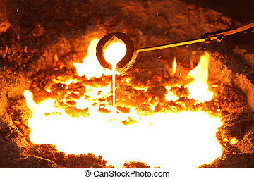 Liquid Molten Steel Industry