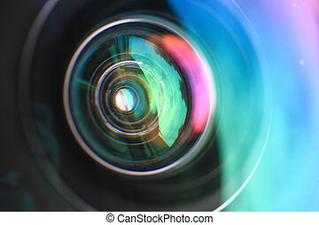 camera lense as very nice technological background