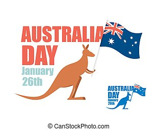 Australia day Illustration for patriotic holiday of country...