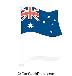 Australian flag on white background Developing State flag of...