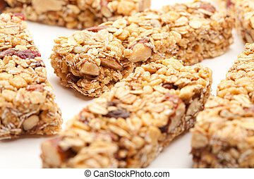 Several Granola Bars Isolated on White - Several Granola...