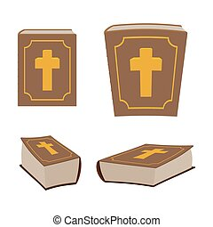 Bible is Holy Book set Different version of Holy Book of...