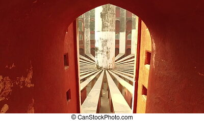 Jantar Mantar - India - Architectural detail of the Jantar...