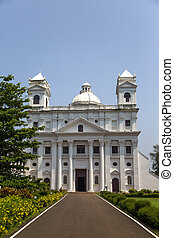 iglesia, de, C/, Cajetan, en, Goa, India,