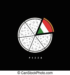pizza vector illustration in colorful