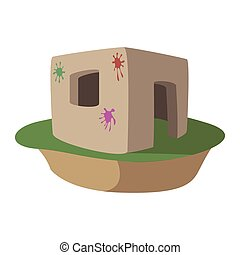 Paintball fortification cartoon icon - Paintball...
