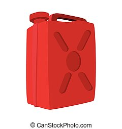 Fuel container jerrycan cartoon icon. Illustration isolated...