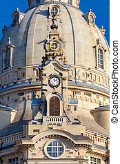 Dresden. Frauenkirche church. - Building Church Frauenkirche...