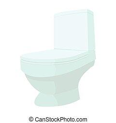 Toilet cartoon icon