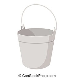 Bucket cartoon icon isolated on a white background