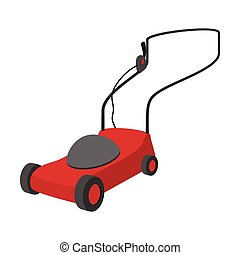 Mower cartoon icon isolated on a white background