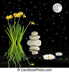 Fantasy Spring Garden - Zen fantasy abstract of a spring...