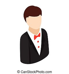 Croupier isometric 3d icon on a white background