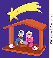 Baby Jesus in a manger 8