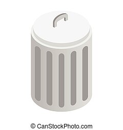 Urn with lid isometric 3d icon isolated on a white...