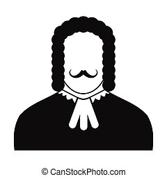 Judge black icon. Simple black symbol on a white background