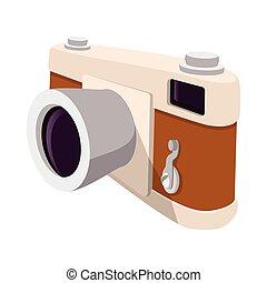 Camera retro cartoon symbol