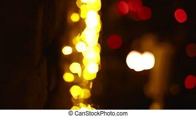 Festive Christmas bright background, Rasfokus